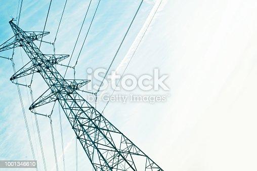 Electricity Transmission Line At Dusk / Dawn