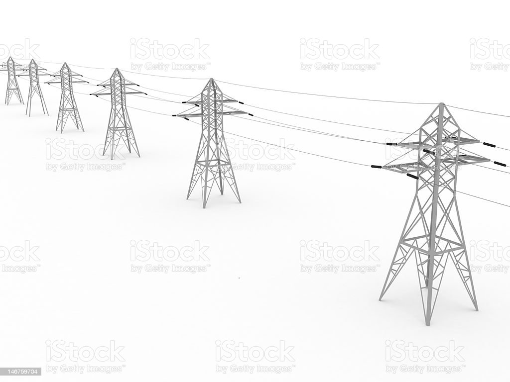 Electricity Transmission Lines stock photo