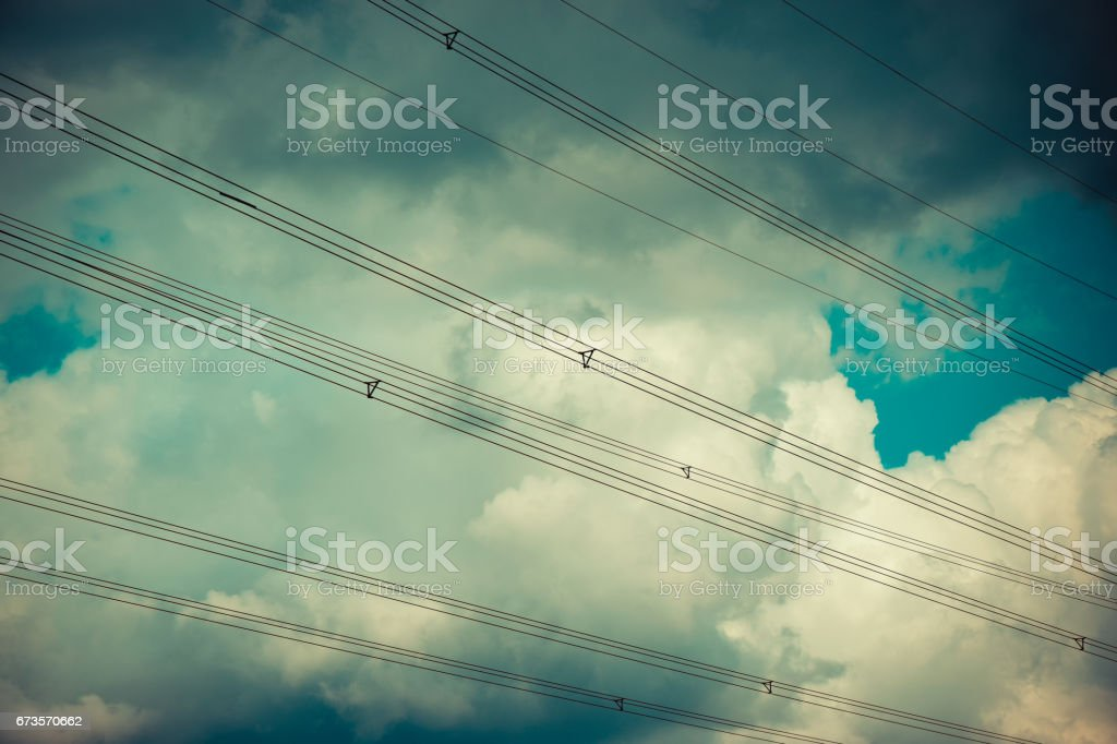 Electricity Transmission Lines royalty-free stock photo