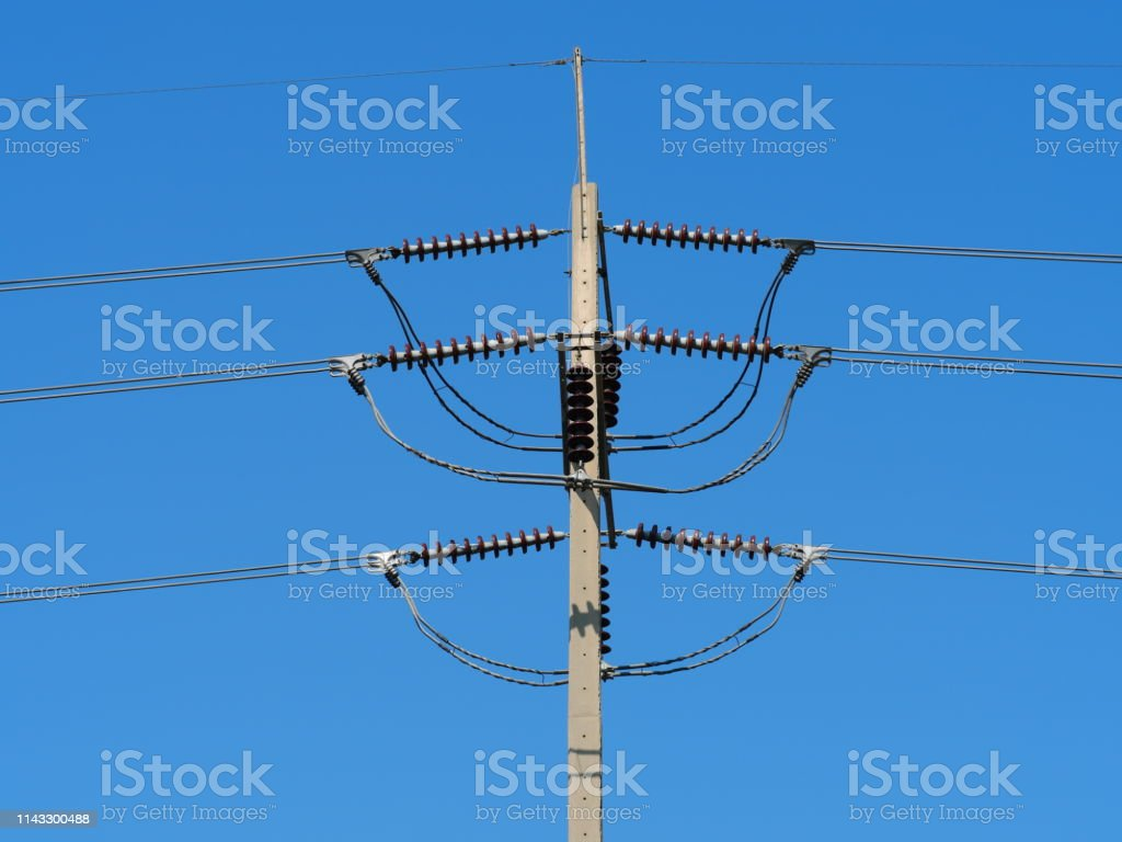 sky phone line wiring diagram electricity wire and pole with blue sky stock photo download  wire and pole with blue sky stock photo