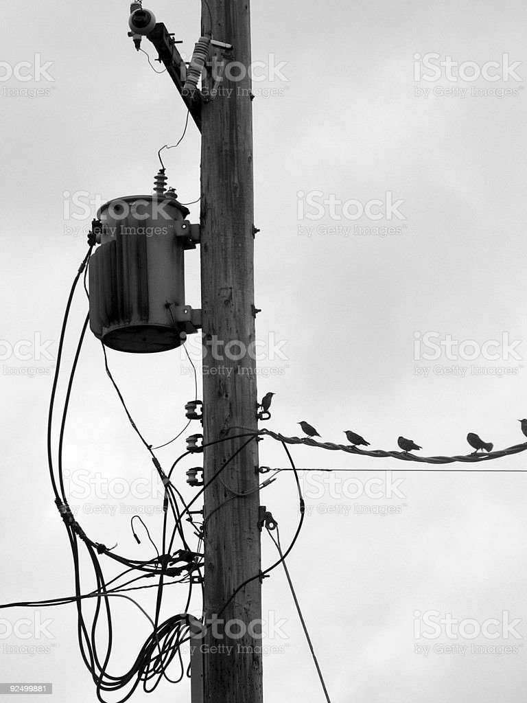 electricity wire royalty-free stock photo