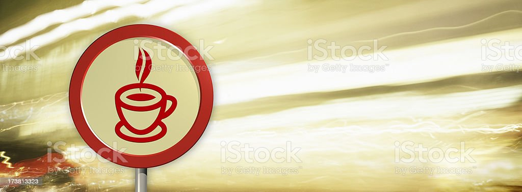 Electrifying Espresso Coffee Sign royalty-free stock photo