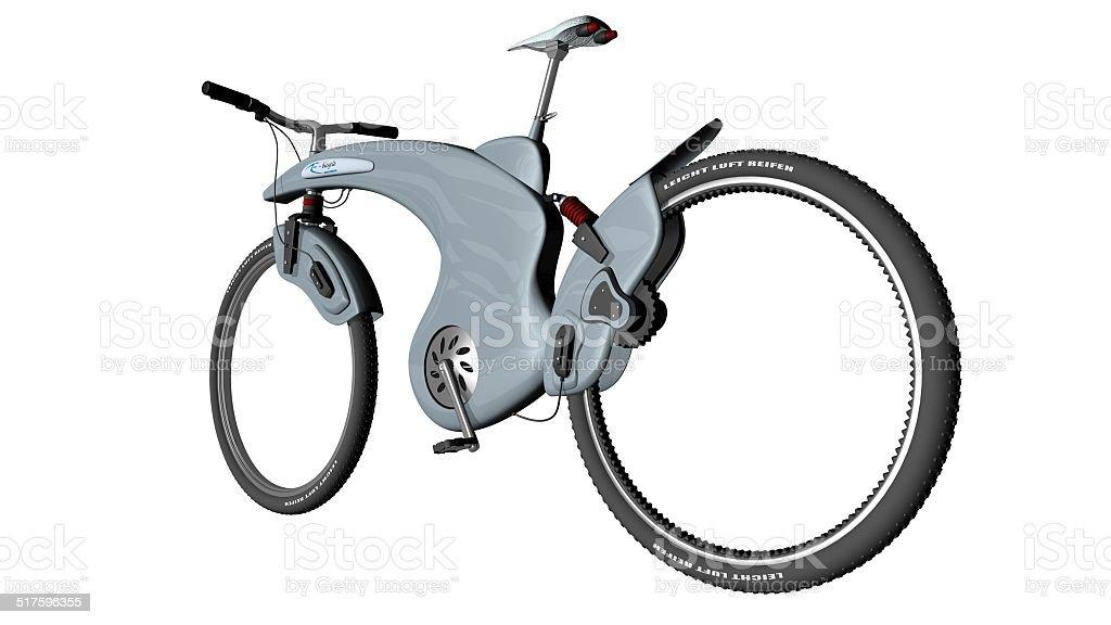 Electro Fahrrad-Ansicht der Rückseite - Lizenzfrei Aufladen Stock-Foto