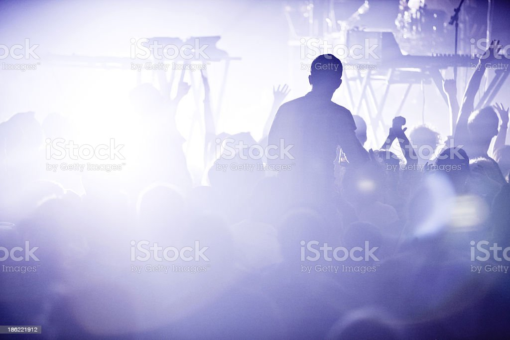 Electro concert and crowd stock photo