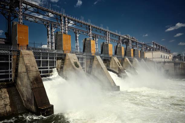 electro hydro plant - энергия воды стоковые фото и изображения