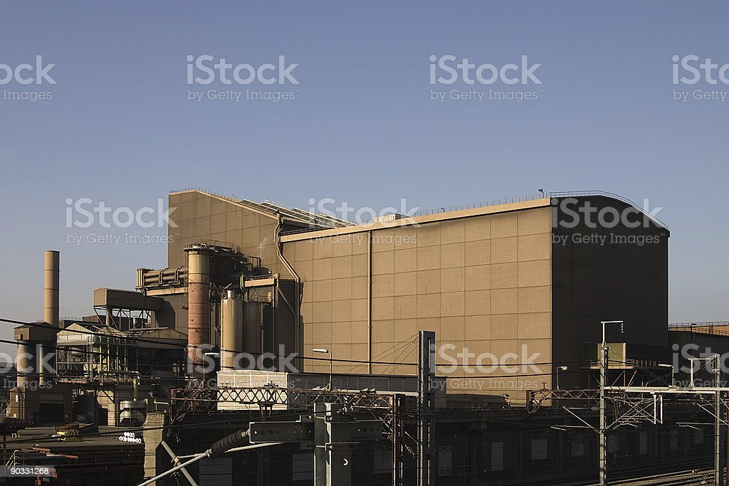 electro steel-furnace royalty-free stock photo