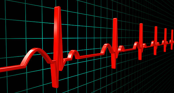 electrocardiogram heartbeat (xxxl) - medical diagrams stock pictures, royalty-free photos & images