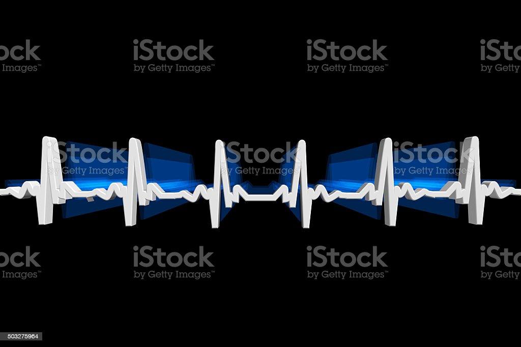 Electrocardiography (ECG or EKG) stock photo