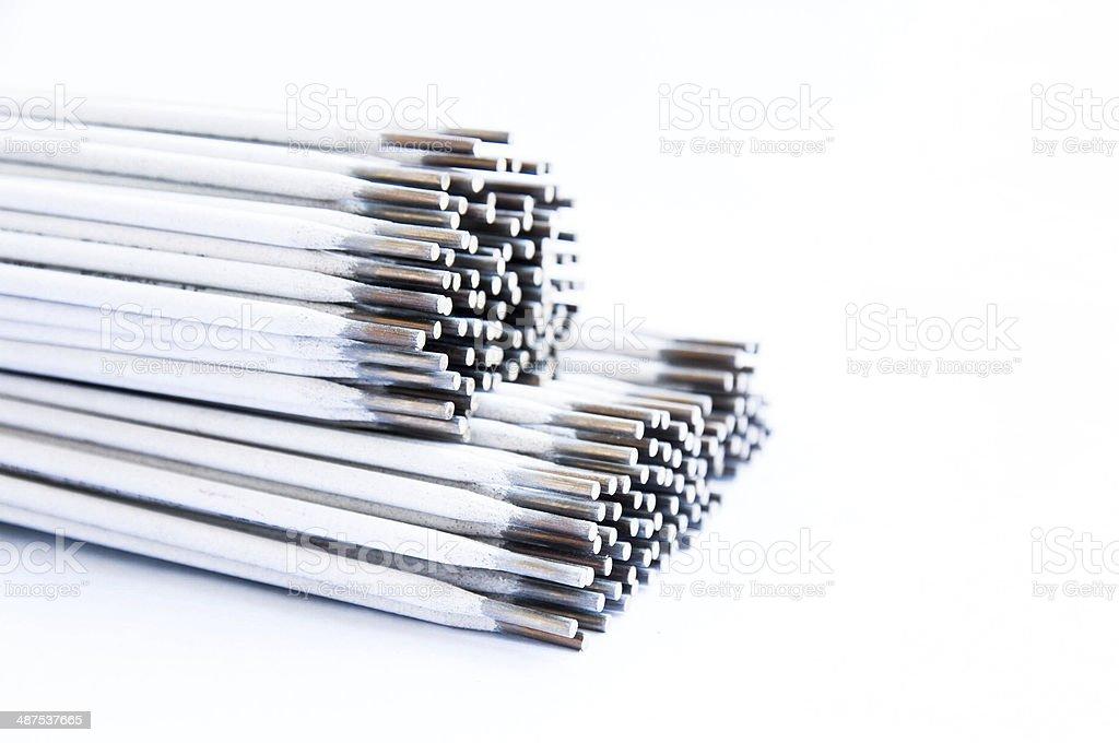 Electrode welding rod for welder stock photo