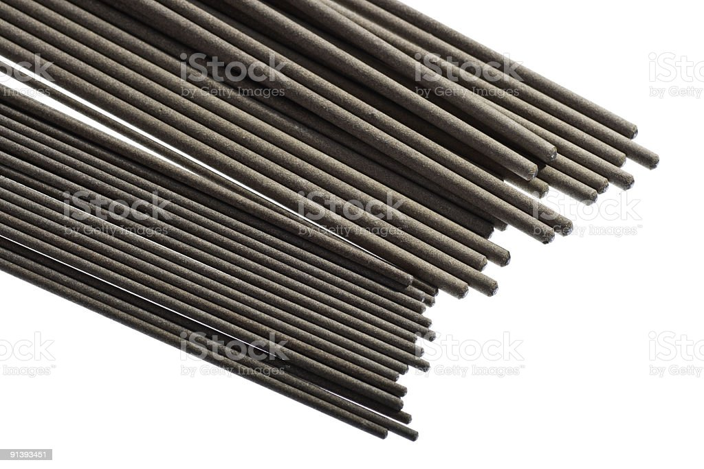 electrodes for welding stock photo