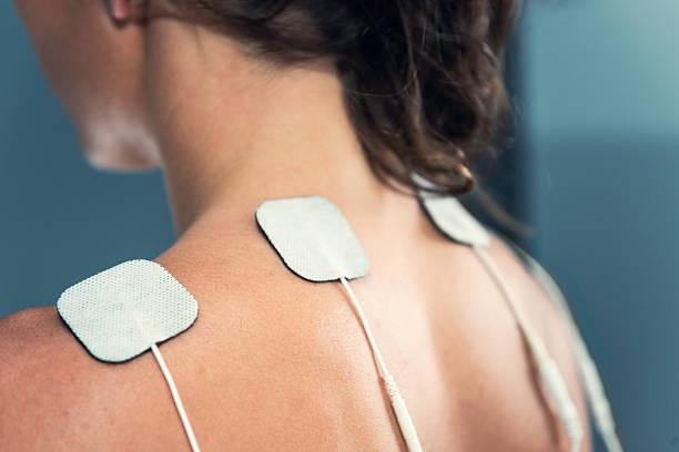 TENS electrodes stock photo