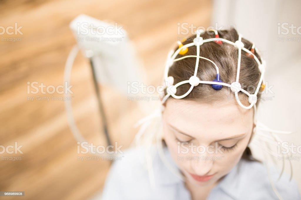Electroencephalogram stock photo