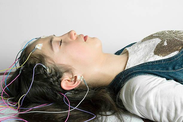 Electroencephalography, EEG stock photo