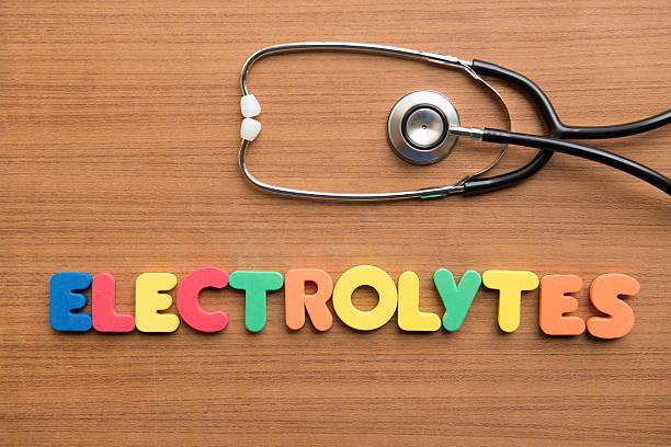 Electrolytes stock photo
