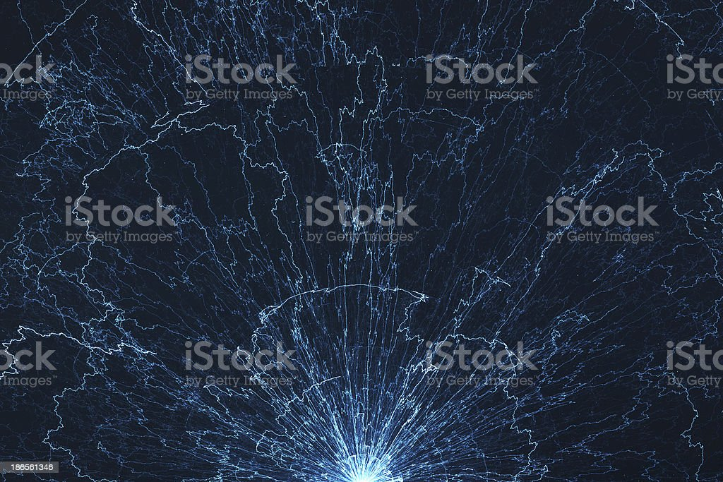 Electromagnetic abstract background - electricity stock photo