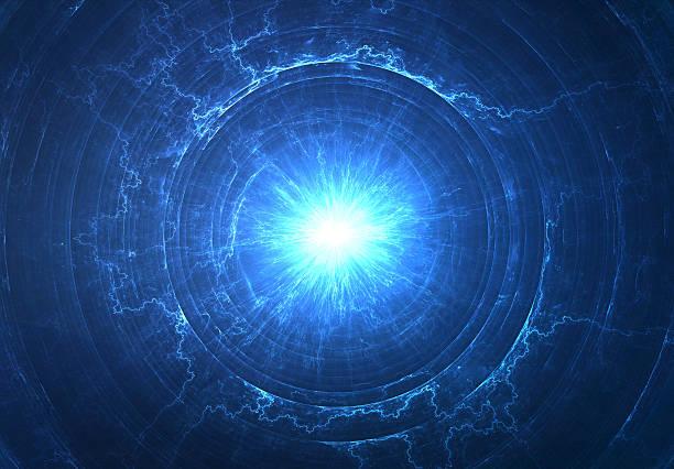 electromagnetic field or space travel concept - tesla coil - teleport bildbanksfoton och bilder