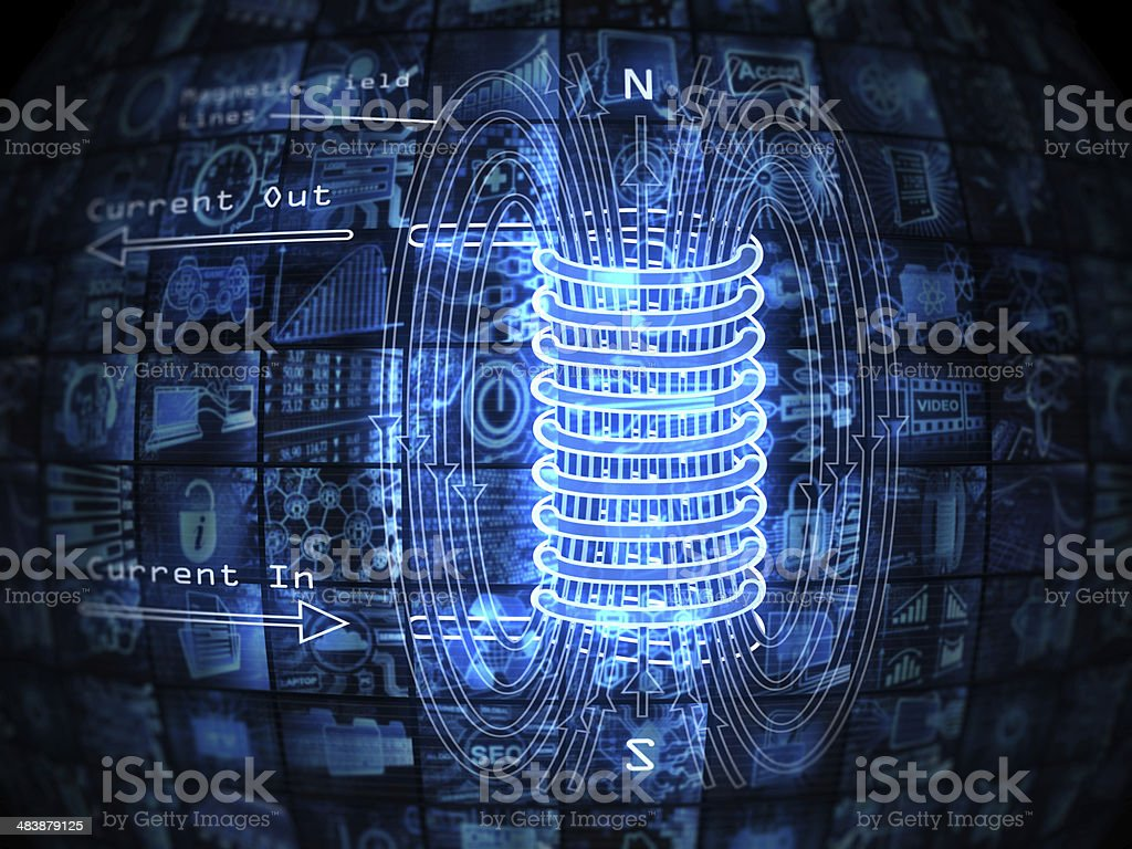 Electromagnetic field stock photo
