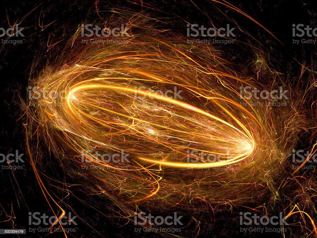 Electromagnetic plasma field stock photo