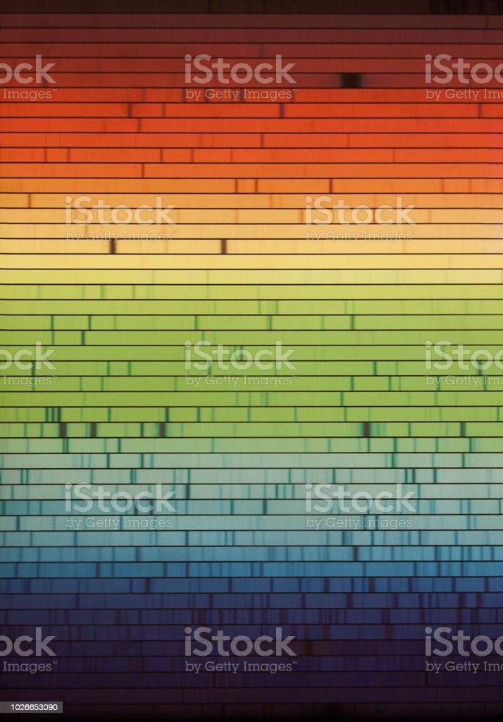 espectro electromagnético - foto de stock