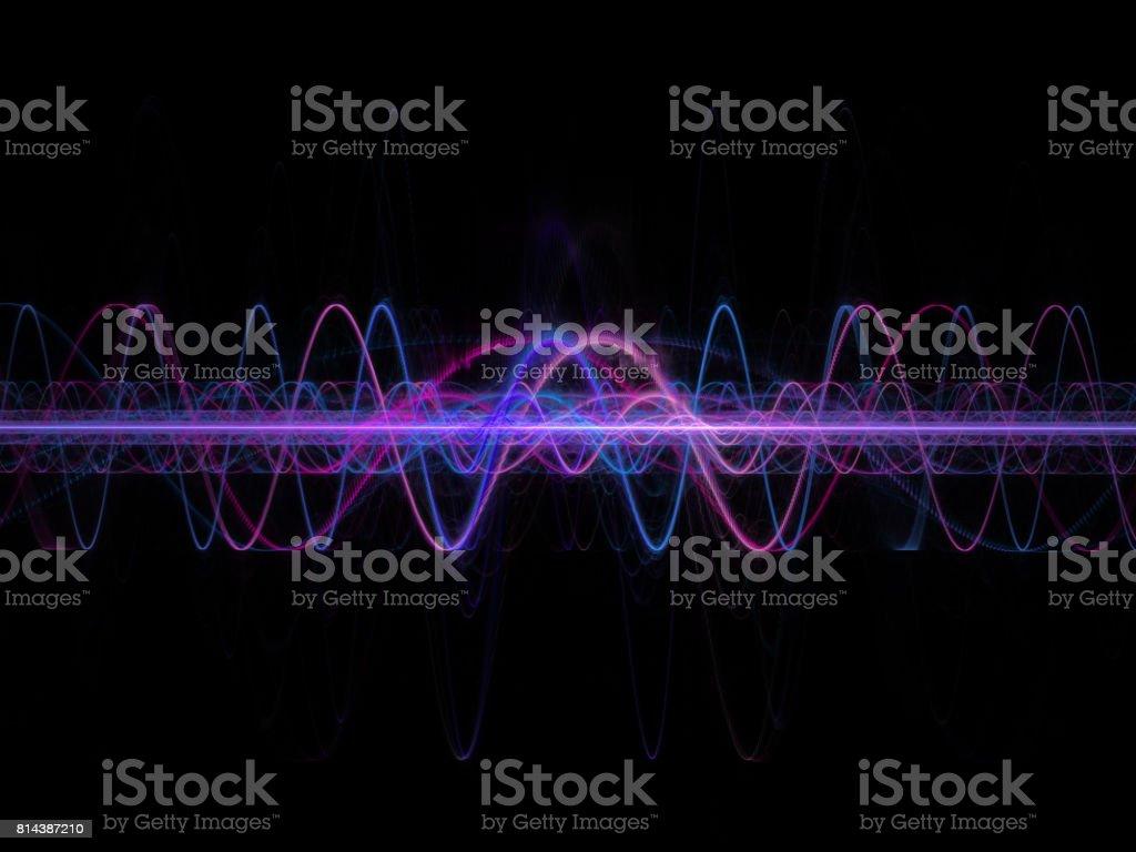 Electromagnetic wave stock photo