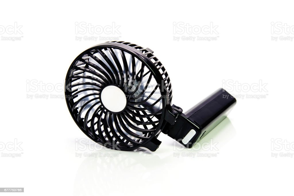 Electronic air fan isolated on white background stock photo