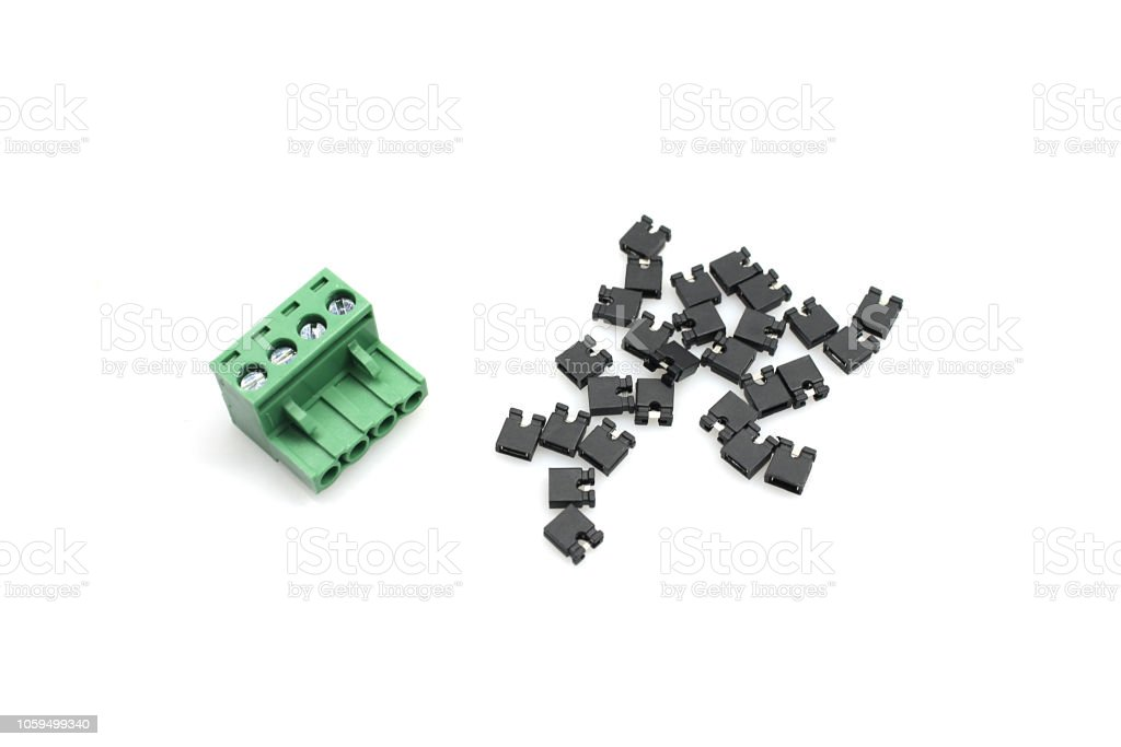 Electronic and radio components stock photo