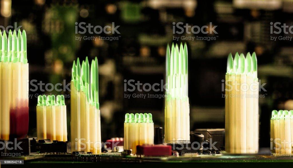Electronic art stock photo