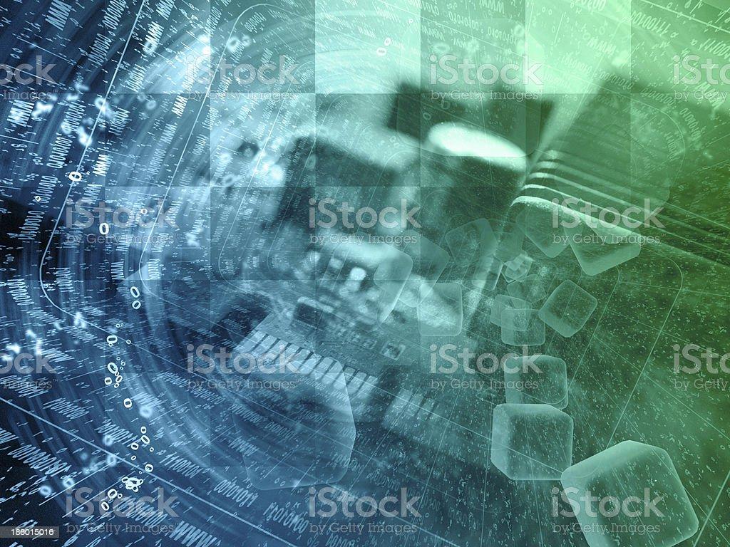 Electronic background royalty-free stock photo