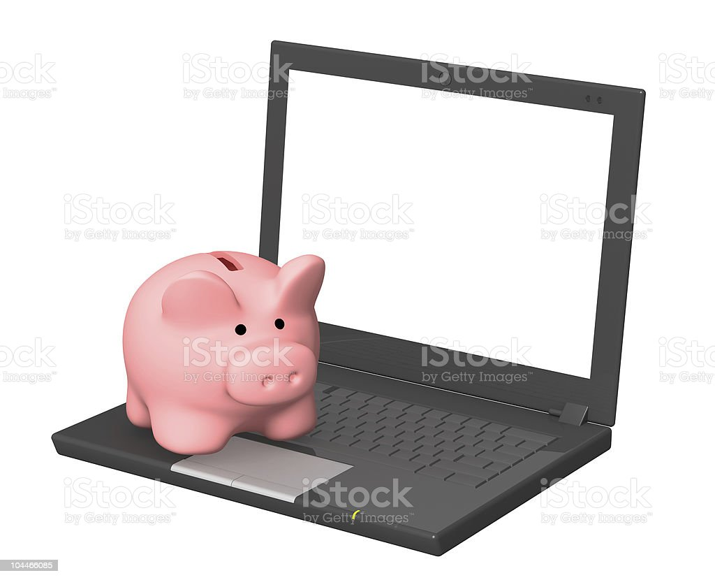 Electronic bank account royalty-free stock photo