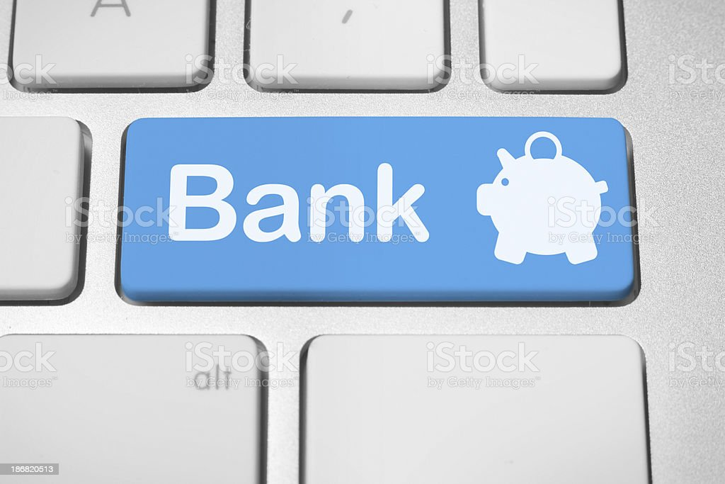 Electronic banking royalty-free stock photo