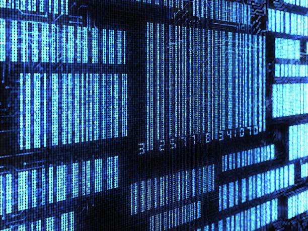 Electronic Barcode stock photo