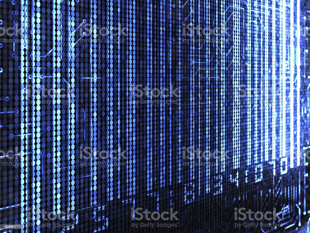 Electronic Barcode royalty-free stock photo