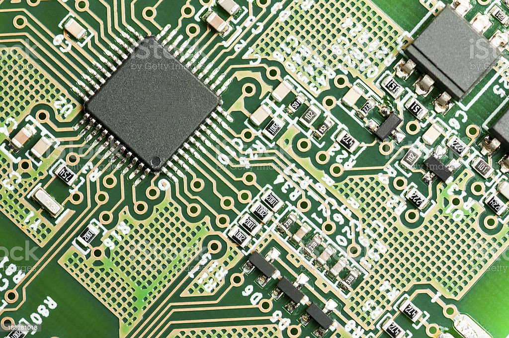 Electronic Board detail royalty-free stock photo
