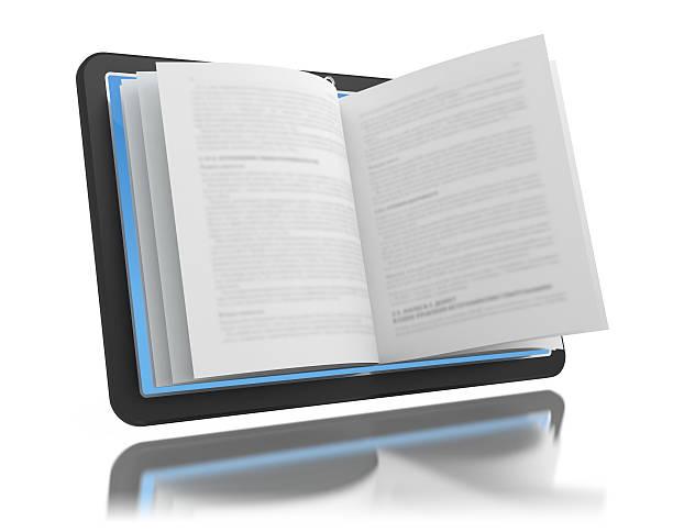 Elektronischen Buch.  E-Lesung weitgehend E-learning – Foto