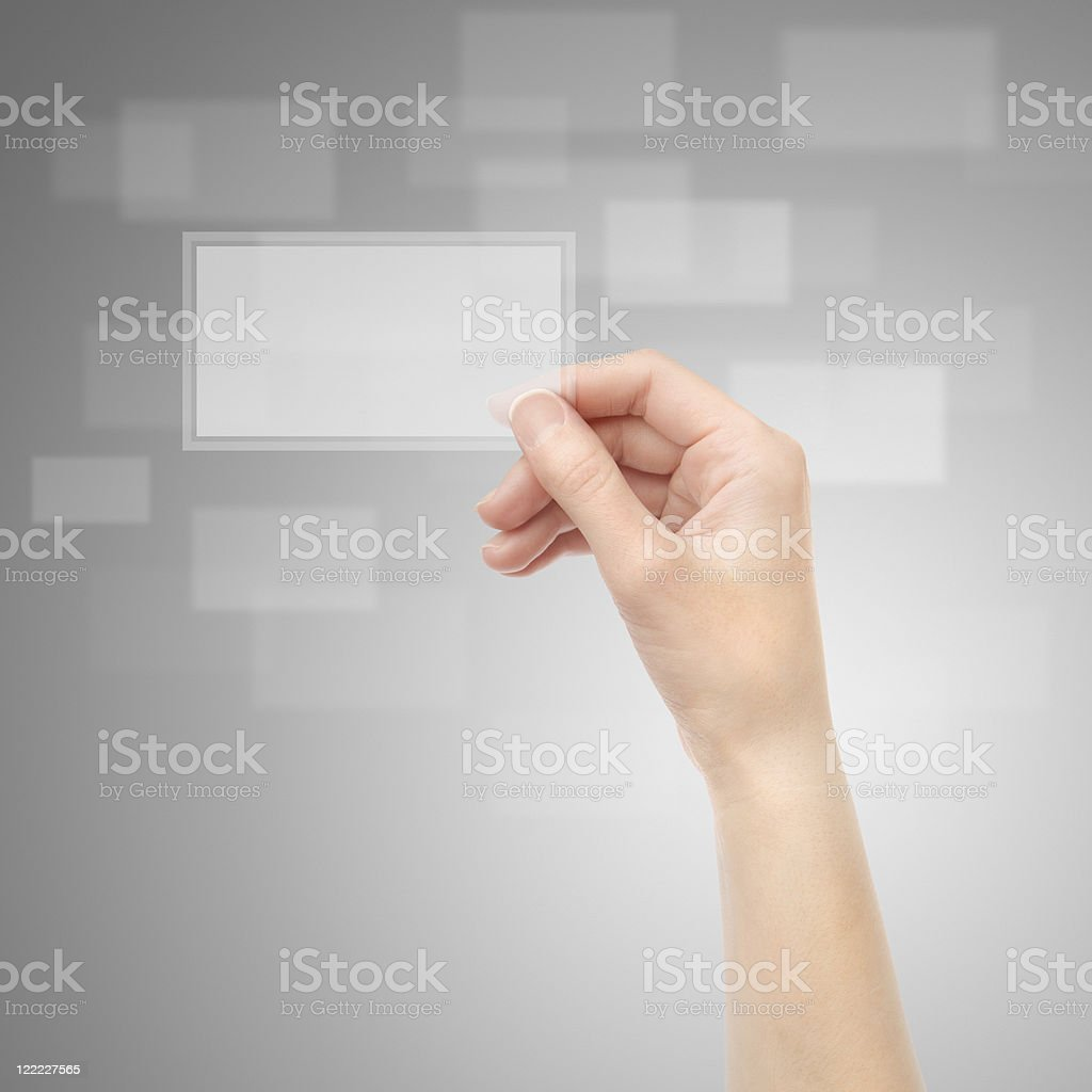 Electronic business card royalty-free stock photo