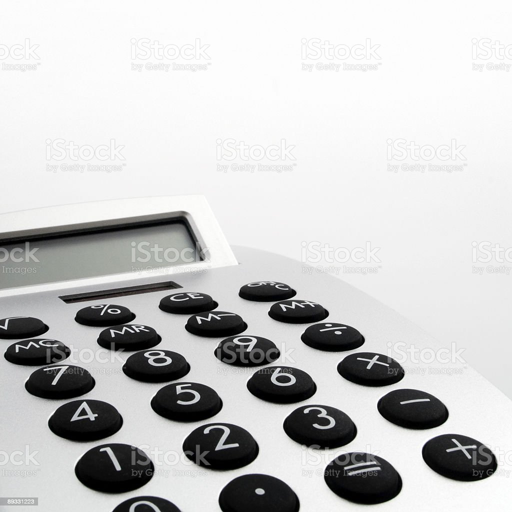 Electronic Calculator closeup - Royalty-free Calculator Stock Photo