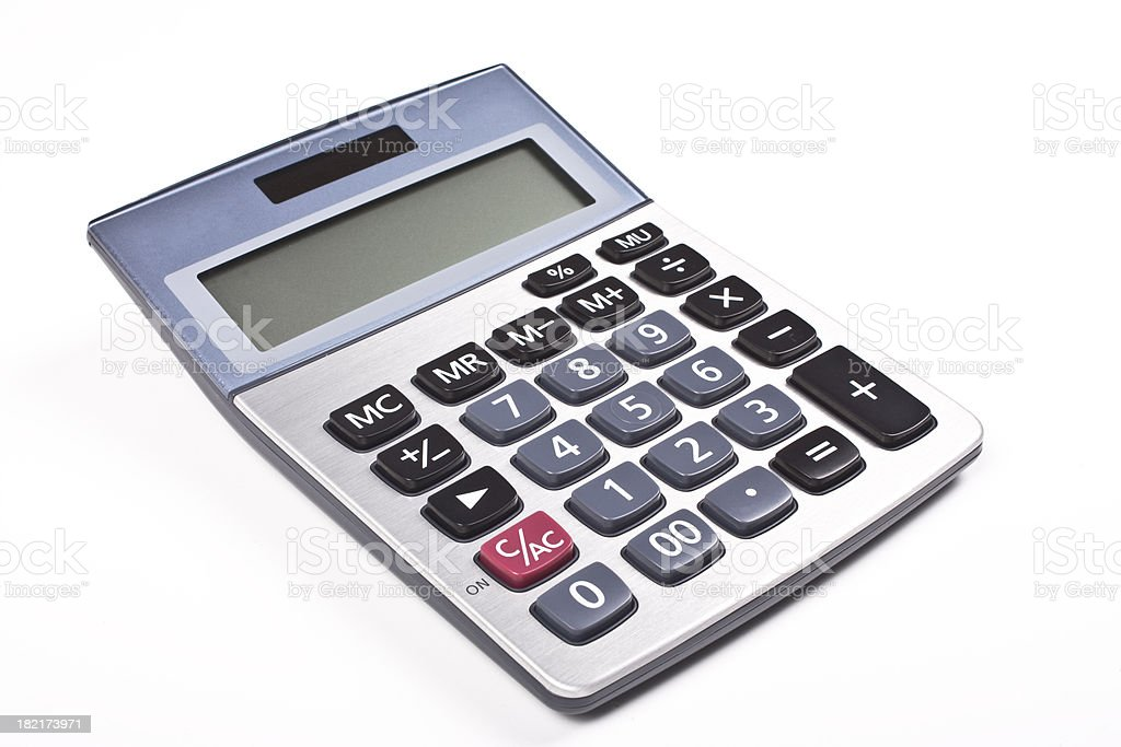 Electronic calculator stock photo
