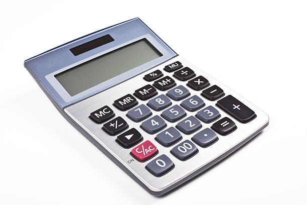 Electronic calculator stock photo
