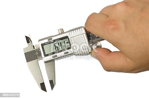 istock electronic caliper on white 868400376