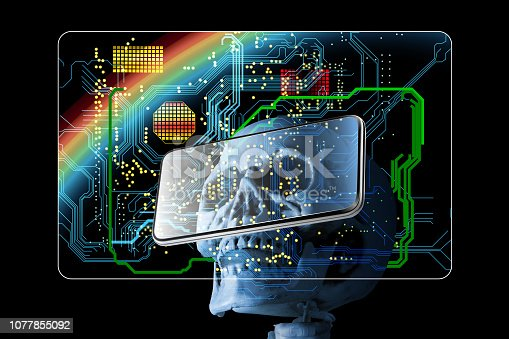 875483824istockphoto Electronic cards and credit guards can be used as medical charts besides payment and finance, and can access all private information through cloud computing. 1077855092