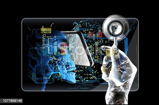 875483824istockphoto Electronic cards and credit guards can be used as medical charts besides payment and finance, and can access all private information through cloud computing. 1077856146