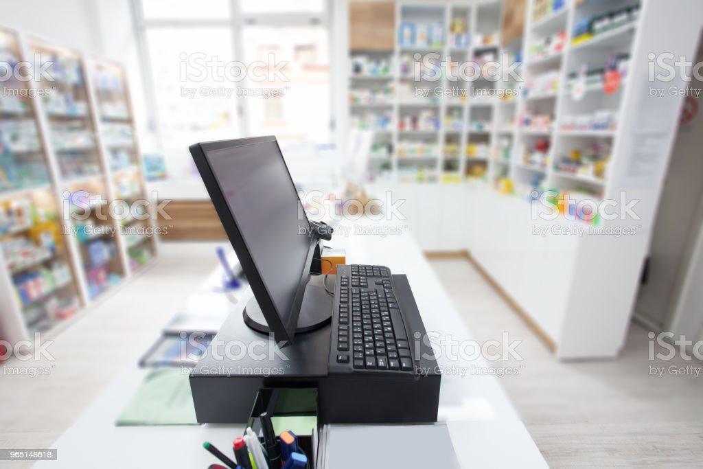 elektronische Kasse im shop – Foto