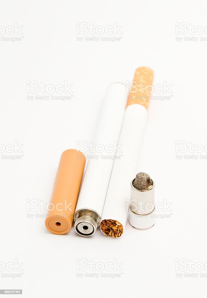 Electronic cigarette isolated on white,alternative to tobacco royalty-free stock photo