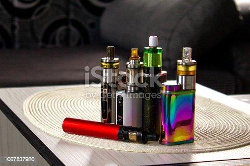 istock Electronic cigarette mod, advanced e-cigarette 1067837920