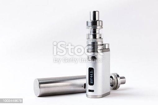 690146632 istock photo electronic cigarette or vaping device on white background 1005449678