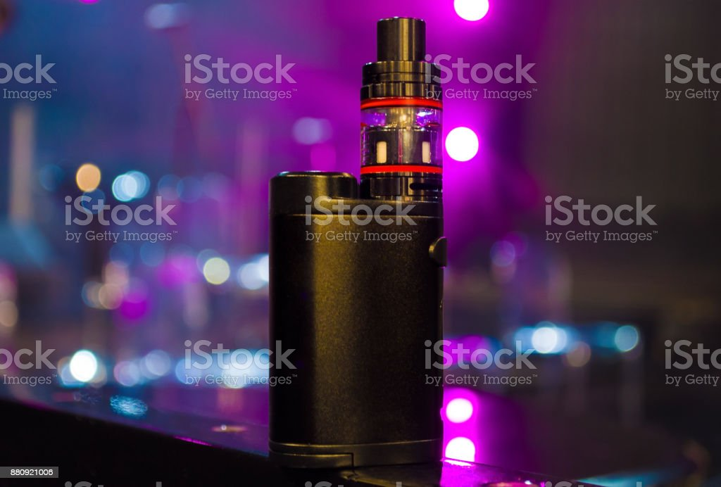 electronic cigarette over colorful background stock photo