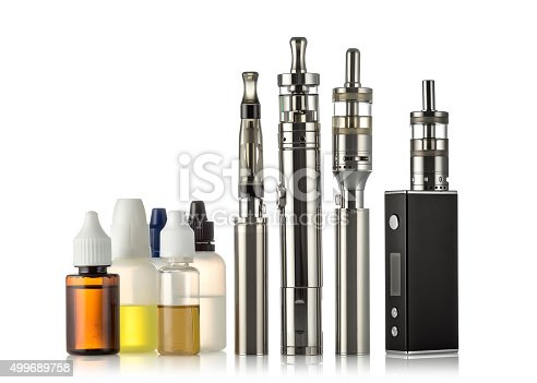 1137088939 istock photo electronic cigarettes collection isolated on white 499689758
