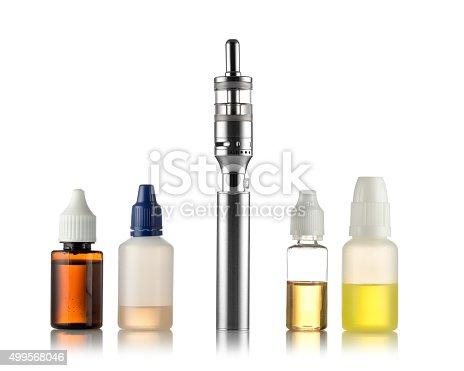 1137088939 istock photo Electronic cigarettes isolated on white 499568046