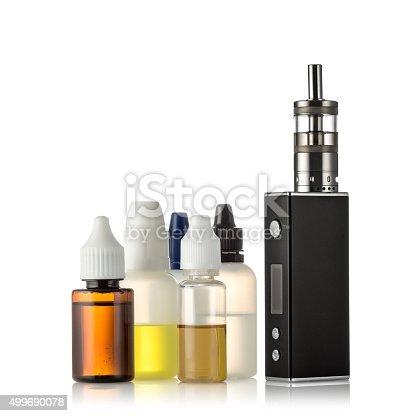1137088939 istock photo Electronic cigarettes isolated on white 499690078