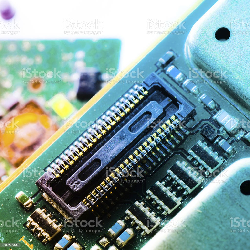 Electronic Circuit Board Stock Photo More Pictures Of Abstract Computer With Electronics Components Royalty Free